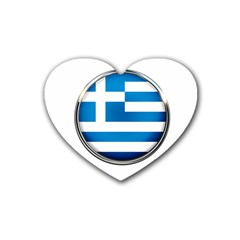 Greece Greek Europe Athens Rubber Coaster (heart)