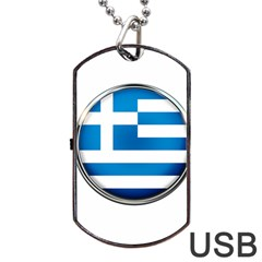 Greece Greek Europe Athens Dog Tag Usb Flash (two Sides)