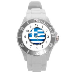 Greece Greek Europe Athens Round Plastic Sport Watch (l)