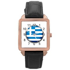 Greece Greek Europe Athens Rose Gold Leather Watch  by Nexatart