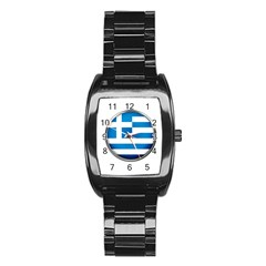Greece Greek Europe Athens Stainless Steel Barrel Watch