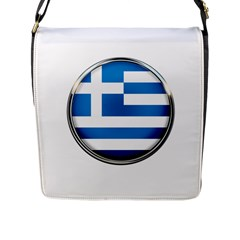 Greece Greek Europe Athens Flap Messenger Bag (l)