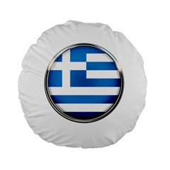 Greece Greek Europe Athens Standard 15  Premium Flano Round Cushions