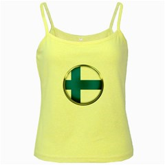 Finland Country Flag Countries Yellow Spaghetti Tank