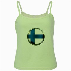 Finland Country Flag Countries Green Spaghetti Tank