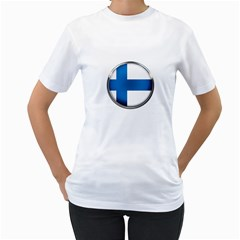 Finland Country Flag Countries Women s T Shirt (white) (two Sided)