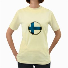 Finland Country Flag Countries Women s Yellow T Shirt