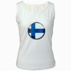 Finland Country Flag Countries Women s White Tank Top