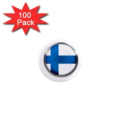 Finland Country Flag Countries 1  Mini Magnets (100 Pack)  by Nexatart