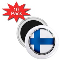 Finland Country Flag Countries 1 75  Magnets (10 Pack)