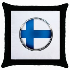 Finland Country Flag Countries Throw Pillow Case (black) by Nexatart