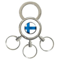 Finland Country Flag Countries 3 Ring Key Chains