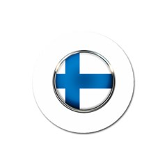 Finland Country Flag Countries Magnet 3  (round)