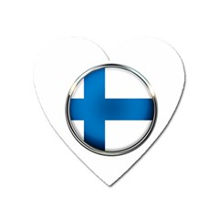 Finland Country Flag Countries Heart Magnet