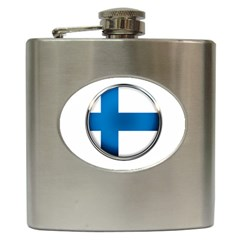 Finland Country Flag Countries Hip Flask (6 Oz)