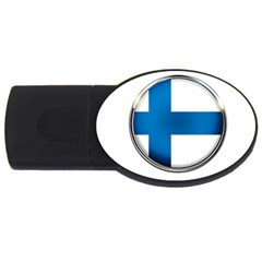 Finland Country Flag Countries Usb Flash Drive Oval (2 Gb)