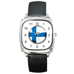 Finland Country Flag Countries Square Metal Watch