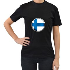Finland Country Flag Countries Women s T Shirt (black) (two Sided)