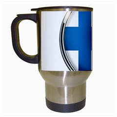 Finland Country Flag Countries Travel Mugs (white)