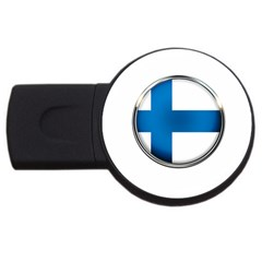 Finland Country Flag Countries Usb Flash Drive Round (4 Gb)