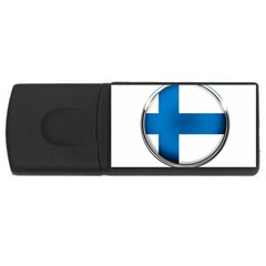 Finland Country Flag Countries Rectangular Usb Flash Drive