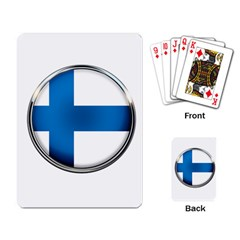 Finland Country Flag Countries Playing Card