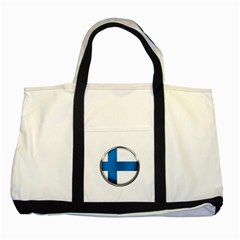 Finland Country Flag Countries Two Tone Tote Bag