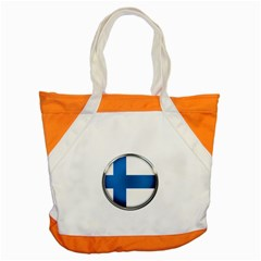 Finland Country Flag Countries Accent Tote Bag