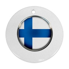 Finland Country Flag Countries Round Ornament (two Sides)