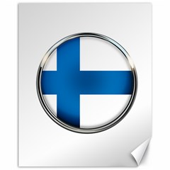 Finland Country Flag Countries Canvas 11  X 14