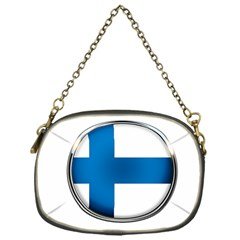 Finland Country Flag Countries Chain Purses (one Side)
