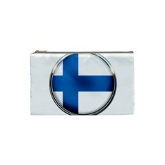 Finland Country Flag Countries Cosmetic Bag (small)