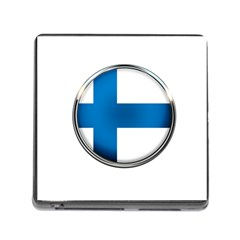 Finland Country Flag Countries Memory Card Reader (square)