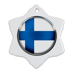 Finland Country Flag Countries Snowflake Ornament (two Sides)