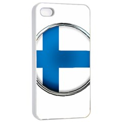 Finland Country Flag Countries Apple Iphone 4/4s Seamless Case (white)