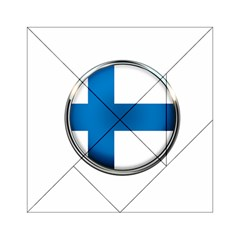 Finland Country Flag Countries Acrylic Tangram Puzzle (6  X 6 )