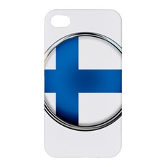 Finland Country Flag Countries Apple Iphone 4/4s Premium Hardshell Case