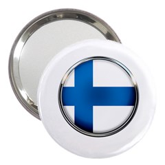 Finland Country Flag Countries 3  Handbag Mirrors