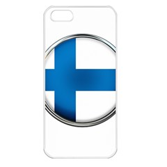 Finland Country Flag Countries Apple Iphone 5 Seamless Case (white)