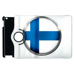 Finland Country Flag Countries Apple Ipad 2 Flip 360 Case