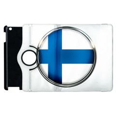 Finland Country Flag Countries Apple Ipad 3/4 Flip 360 Case