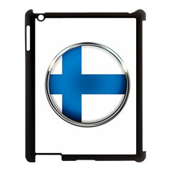 Finland Country Flag Countries Apple Ipad 3/4 Case (black)