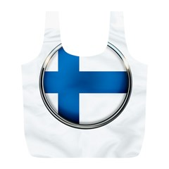 Finland Country Flag Countries Full Print Recycle Bags (l)