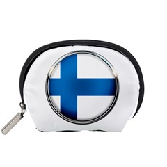 Finland Country Flag Countries Accessory Pouches (small)