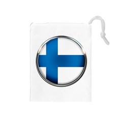 Finland Country Flag Countries Drawstring Pouches (medium)