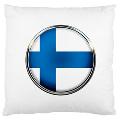 Finland Country Flag Countries Large Flano Cushion Case (one Side)