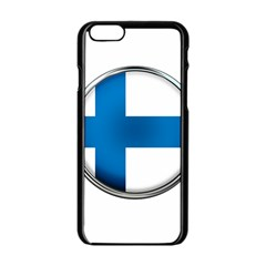 Finland Country Flag Countries Apple Iphone 6/6s Black Enamel Case