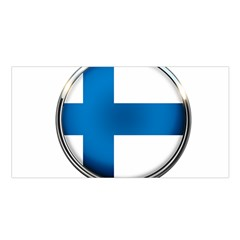 Finland Country Flag Countries Satin Shawl