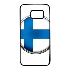 Finland Country Flag Countries Samsung Galaxy S7 Black Seamless Case