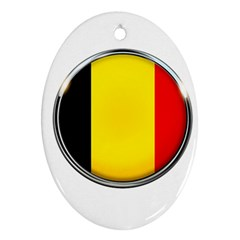 Belgium Flag Country Brussels Ornament (oval)